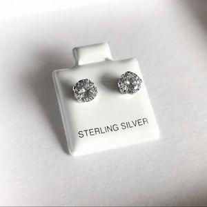 .75 Carat CZ Stone Stud Earrings